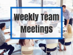 Weekly Team Meetings