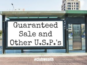 Guaranteed Sale and Other USPs