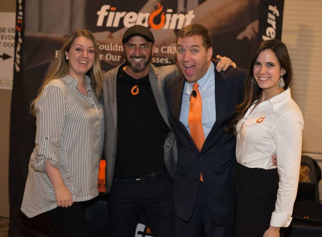 Michael with Gabe Cordova and crew from Firepoint
